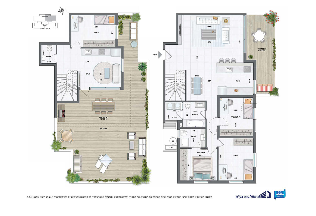 דופלקס 6 חד' | קומה 9 | דרום - מזרח